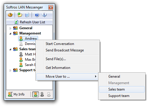 Basic LAN Messenger Features
